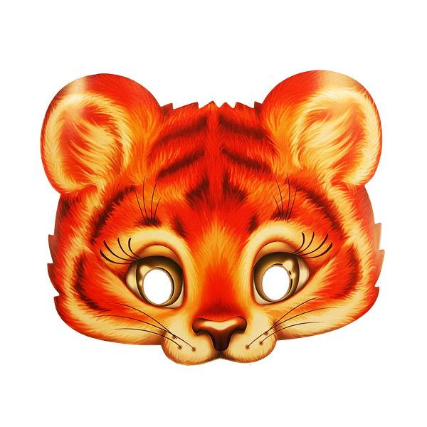 Новогодняя маска тигра своими руками