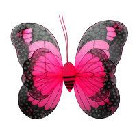 Крылья бабочки малиновые